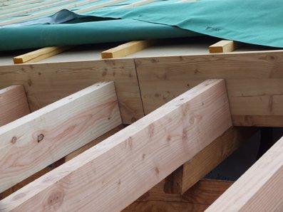 Article 9 : fazneufh chevrons et volige des débords de toit foto71